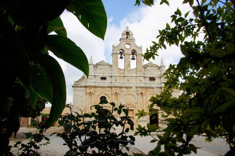 Bei dem Kloster Arkadi auf Kreta lohnt auch ein zweiter Blick.