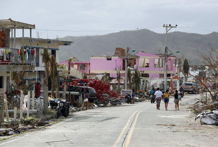 """Bilder der Zerstörung gingen von Providencia um die Welt. Der Hurrikan """"Iota"""" zerstörte im November 2020 mehr als 90 Prozent der Insel-Infrastruktur."""