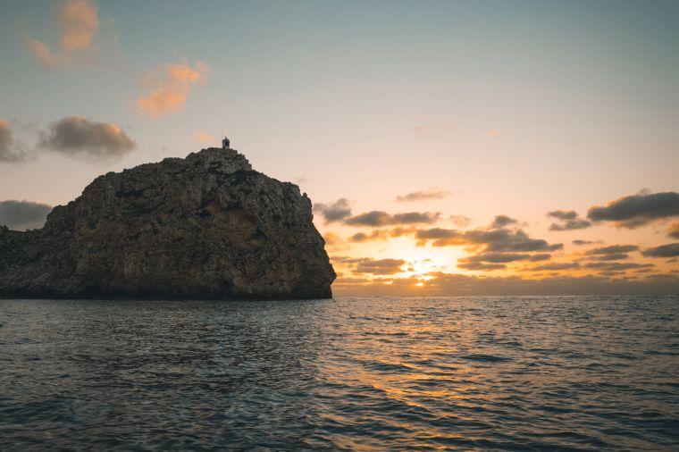 Sonnenuntergang südlich von Mallorca.