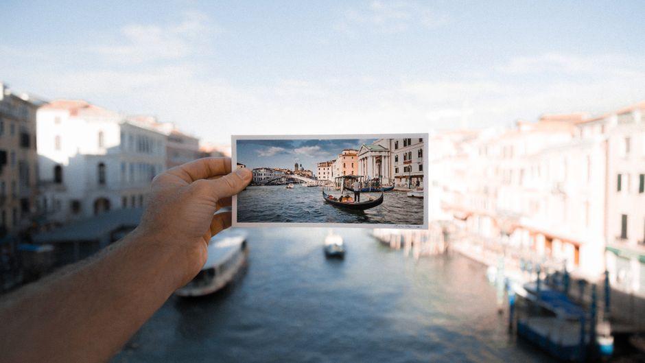 Venedig auf einer Postkarte.