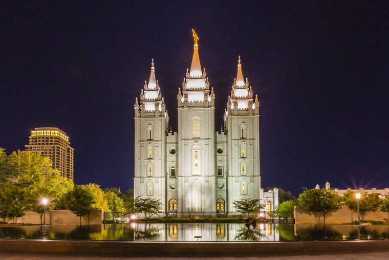 Der Mormonentempel steht in Salt Lake City.