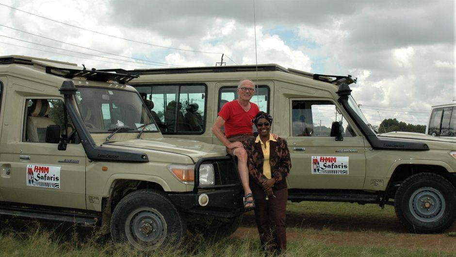 Herbert Lackner und seine Lebensgefährtin Muthoni Mainah haben ein Afrika-Reisebüro gegründet.