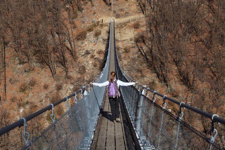 Die einzigartige Tibetanische Hängebrücke in der Schweiz.