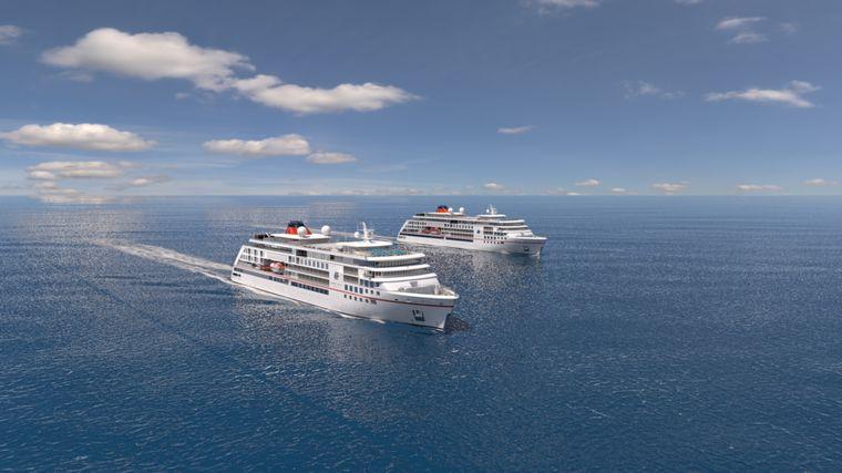 So sollen die zwei neuen Expeditionsschiffe für Hapag-Lloyd Cruises aussehen
