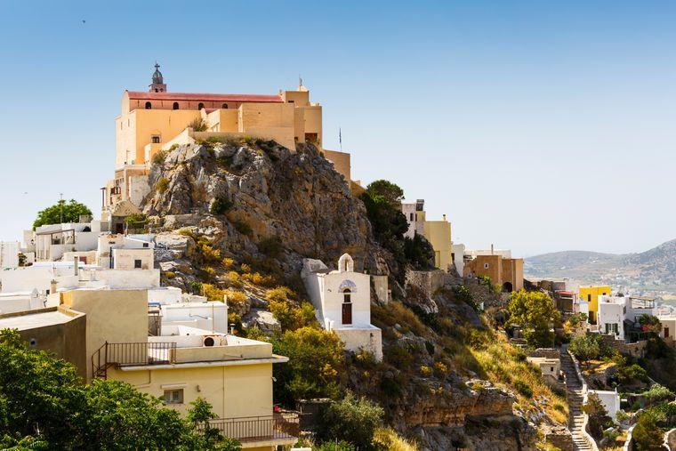 Autofreies Dorf: Ano Syros kann nur zu Fuß erkundet werden.