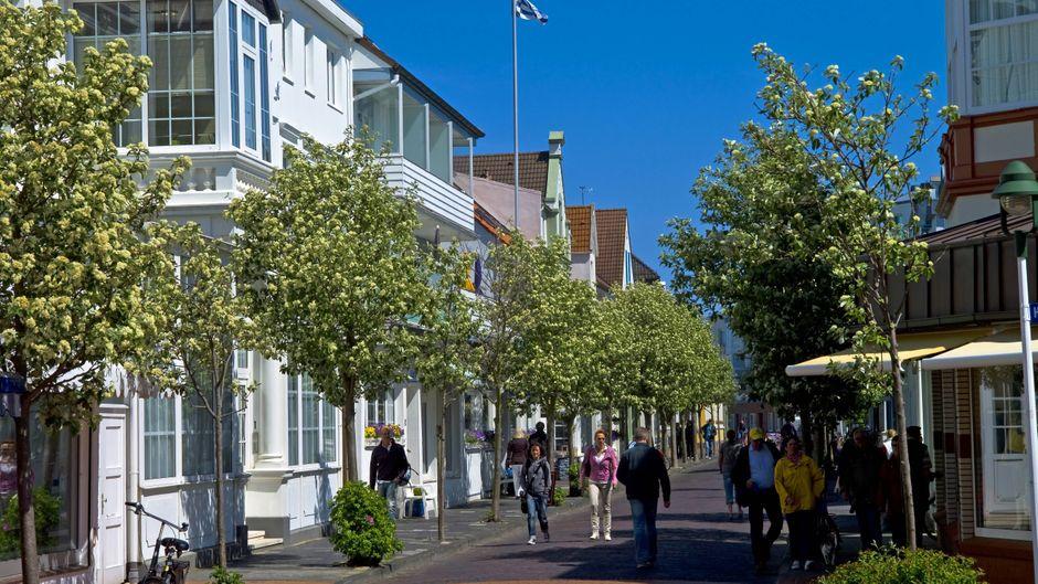 Fußgängerzone von Norderney.