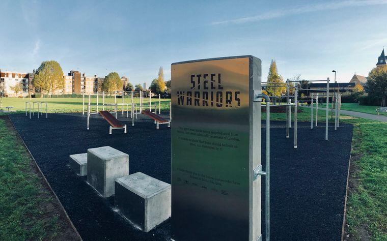 """Im Fitnesspark der """"Steel Warriors"""" können sich die Jugendlichen gewaltfrei auspowern."""