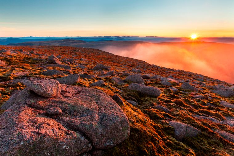 Nationalpark Cairngorms in Schottland.