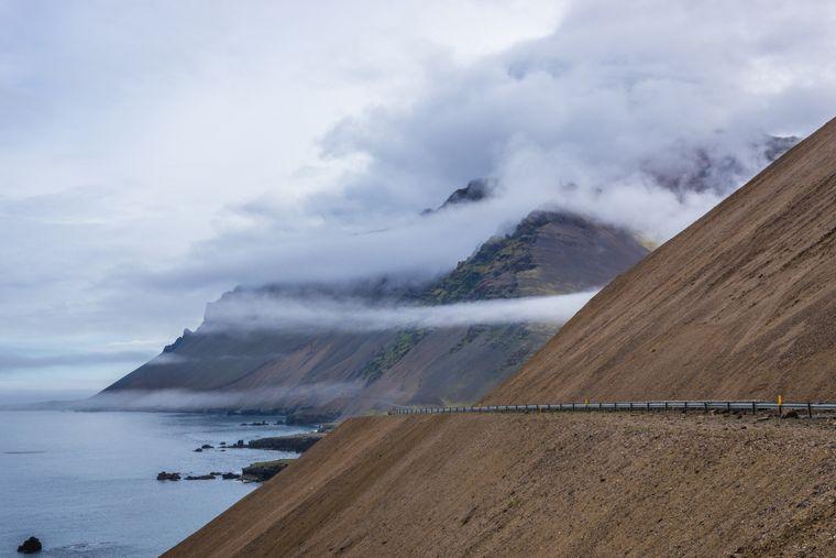 Die Laekjavik-Küste liegt im Südosten Islands.