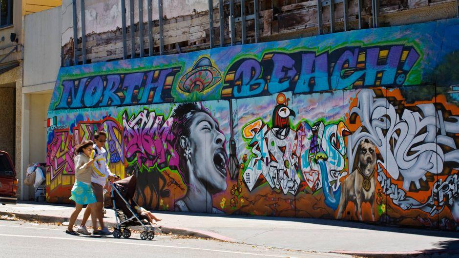 Street-Art und Graffitis bestimmen das Stadtbild San Franciscos.