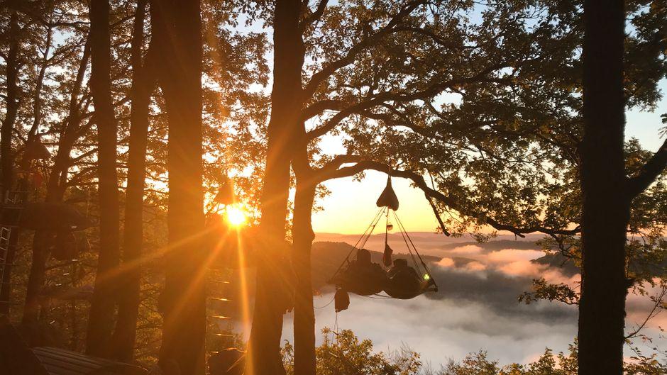 Morgens noch schöner: So wacht es sich über der Saar auf.