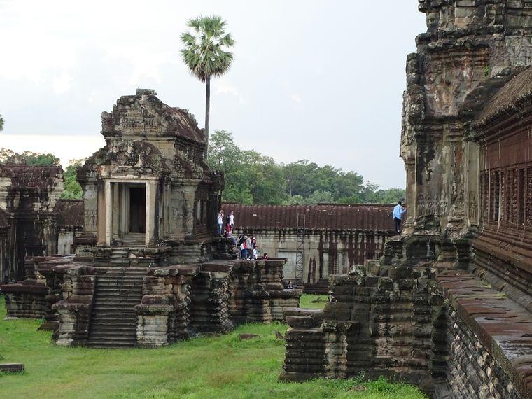 Die Tempelanlagen von Angkor Wat zählen zu den größten Touristensehenswürdigkeiten.