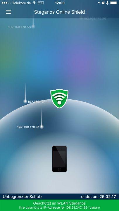 Das Steganos Online Shield lässt dich weltweit undercover surfen.