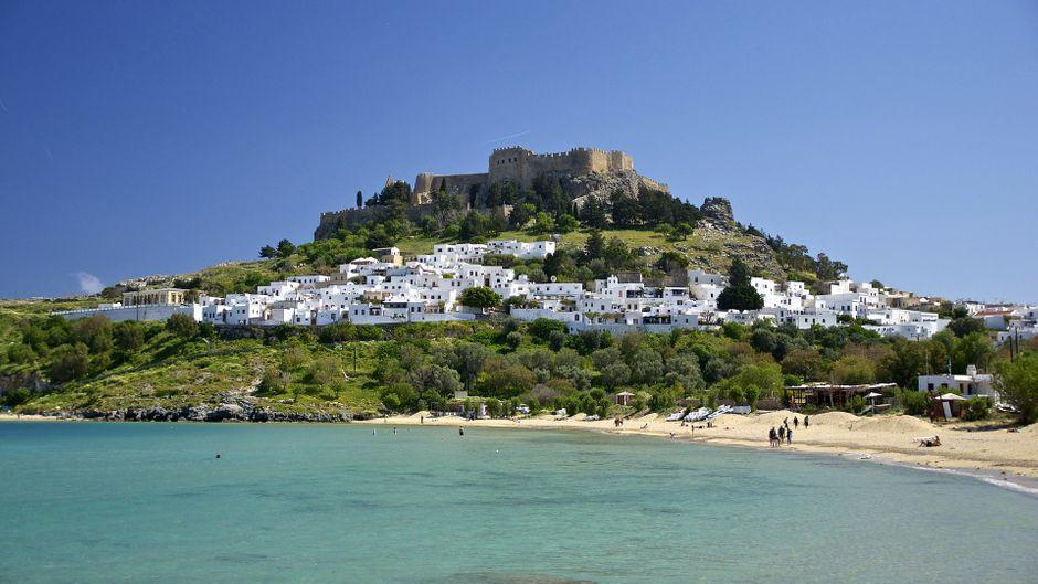 Rhodos: Mit gut 1400 Quadratkilometern ist sie die viertgrößte Insel Griechenlands.