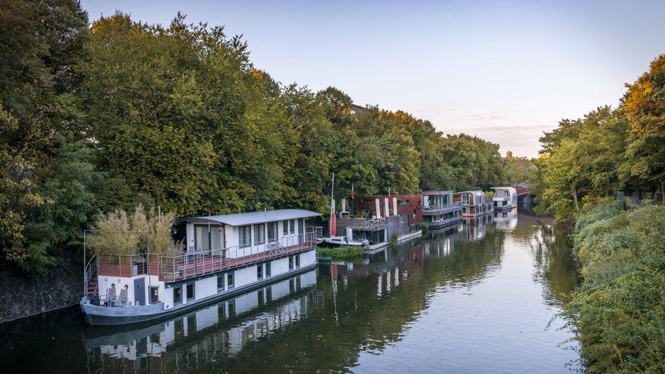 Hausboote in Hamburg.