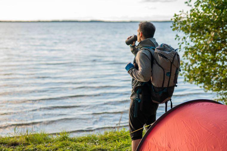 Auf dem Peraküla-Aegviidu-Ähijärve in Estland ist Wildcamping möglich.