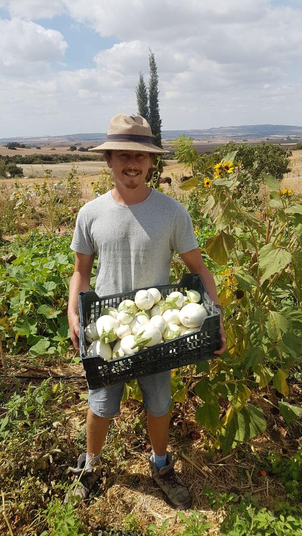 Jacob Evans auf seiner Farm.