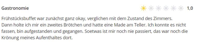 Online-Bewertung des Hotels Continental Pfälzer Hof in Kassel.