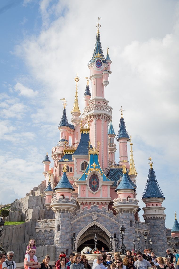 "Das ""Sleeping Beauty Castle"" im Disneyland Paris."