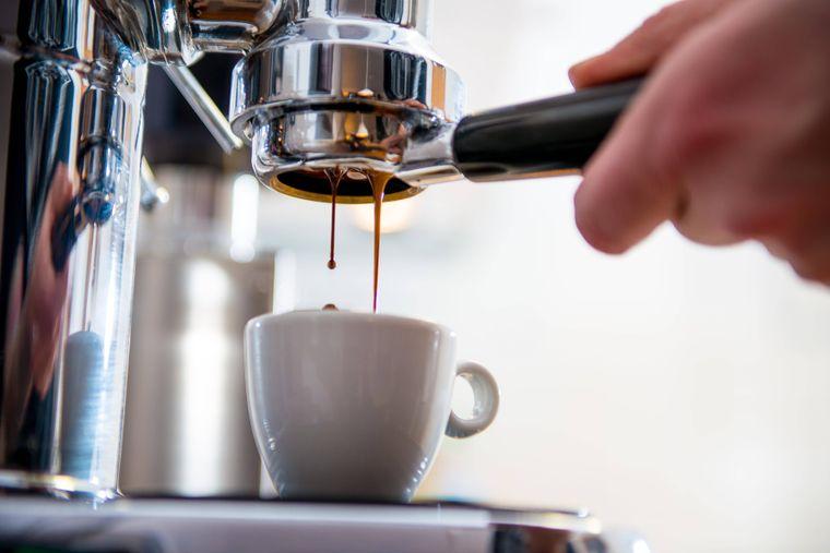 Italienische Kaffeemaschine.