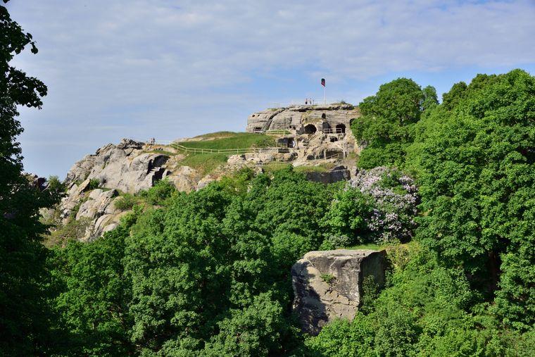 An der Burg Regenstein beginnt die Wanderung. Die Ruine der mittelalterlichen Festung ist aber auch so ein tolles Ausflugsziel.