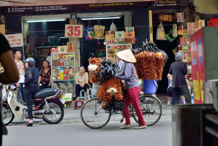 April 15, 2018 - Hanoi, VieEine Martstraße in der vietnamesischen Hauptstadt Hanoi.