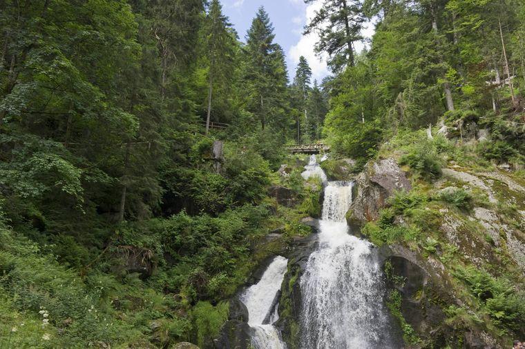 Die eindrucksvollen Triberger Wasserfälle findest du im deutschen Nationalpark Schwarzwald.