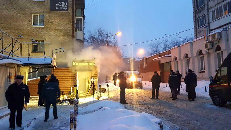 Fünf Menschen starben im Hotel Karamel in Perm.