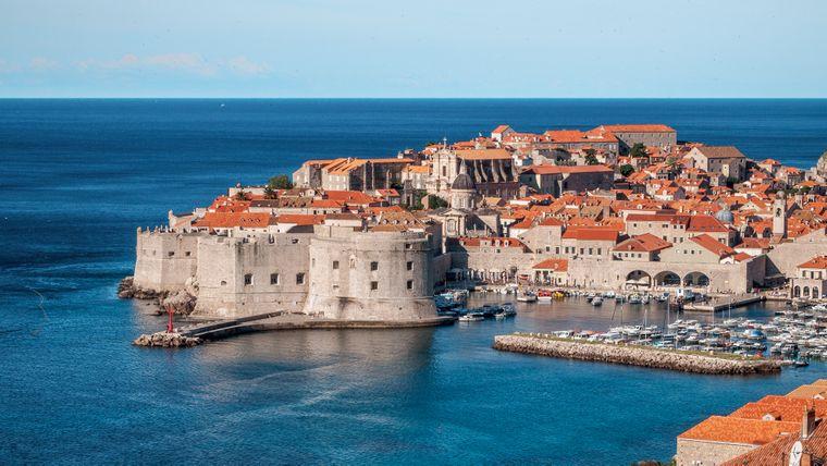 Blick auf Dubrovnik in Kroatien