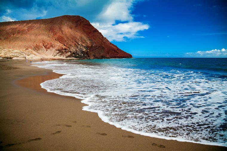 Playa de la Tejita zwischen El Medano und Los Abrigos, Teneriffa.