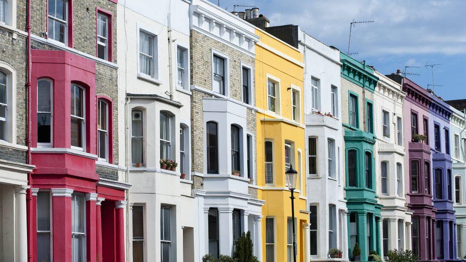 """Auch Julia Roberts und Hugh Grant verliebten sich in """"Notting Hill"""" in die Gegend."""