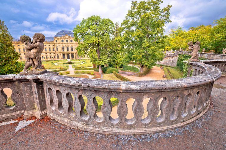 Blick von der Terrasse der Residenz Würzburg.