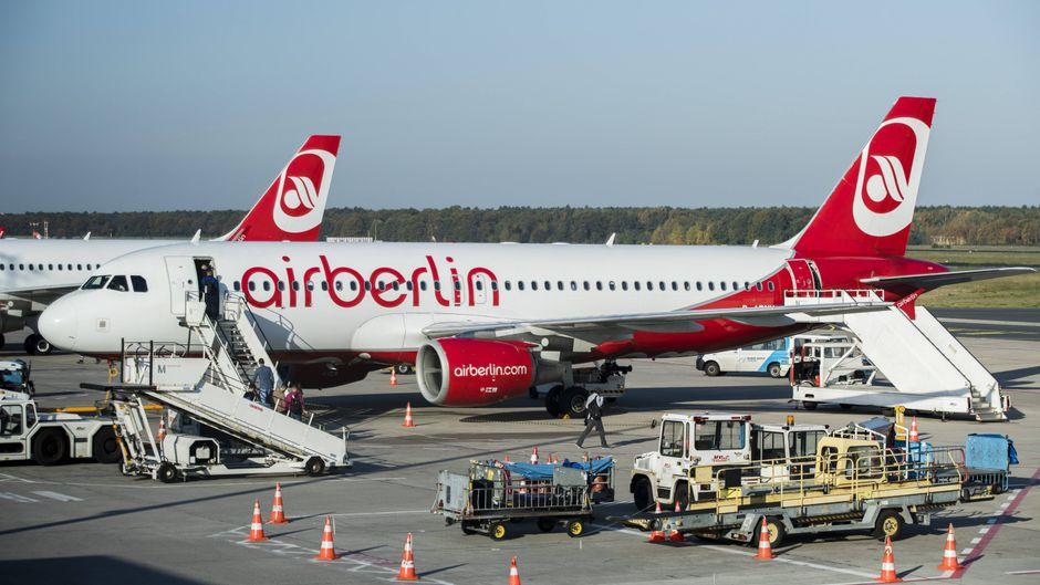 Ein Flugzeug von Air Berlin darf in Island nicht starten (Symbolfoto).