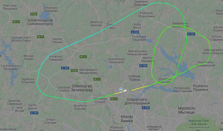 Das Aeroflot-Flugzeug drehte kurz nach dem Start um und landete nach einer Schleife brennend in Moskau.