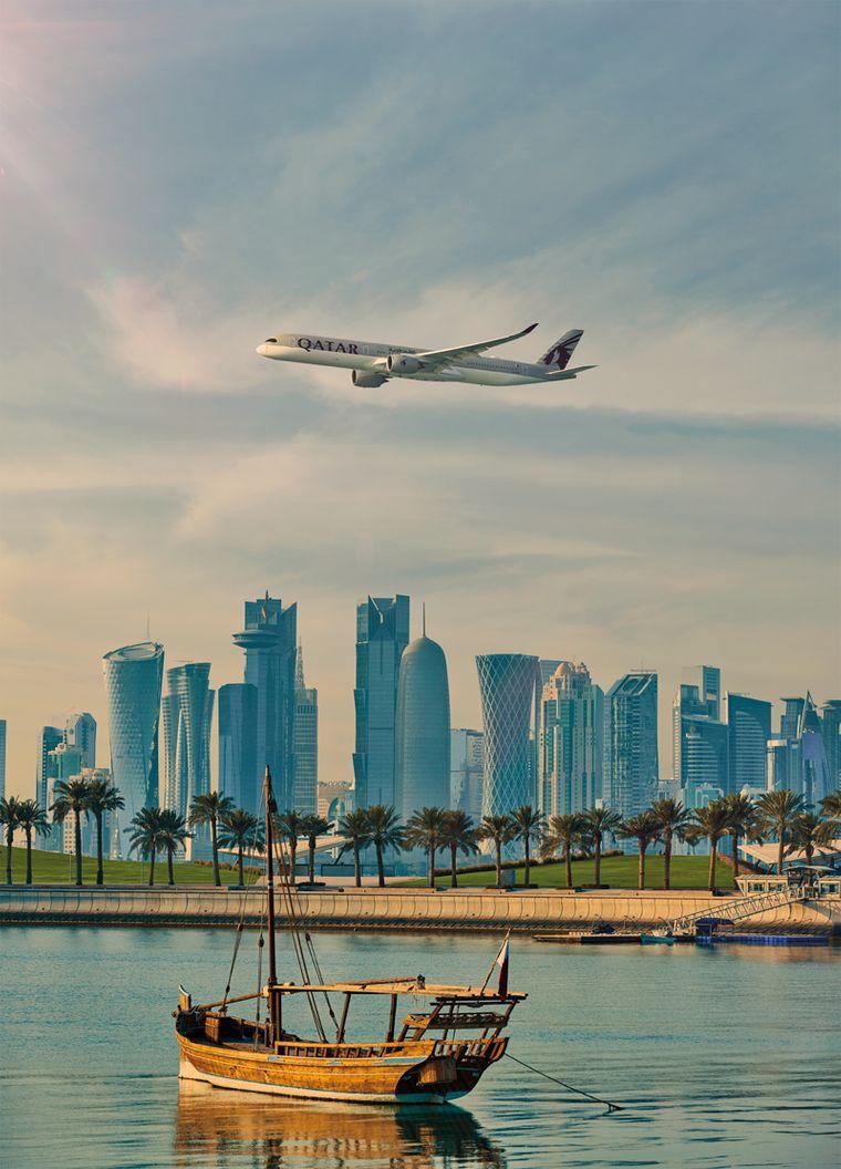 Die atemberaubende Skyline von Doha