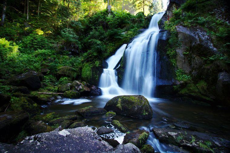 Die Triberger Wasserfälle im Schwarzwald sehen fast aus wie im Märchen.