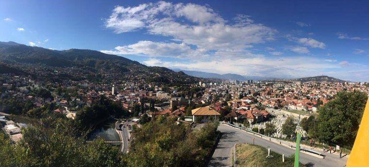 Sarajevo im Panorama.
