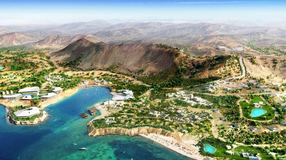 An der Nordwestküste Saudi-Arabiens entsteht das Luxus-Tourismusprojekt Amaala mit eigenem Flughafen.