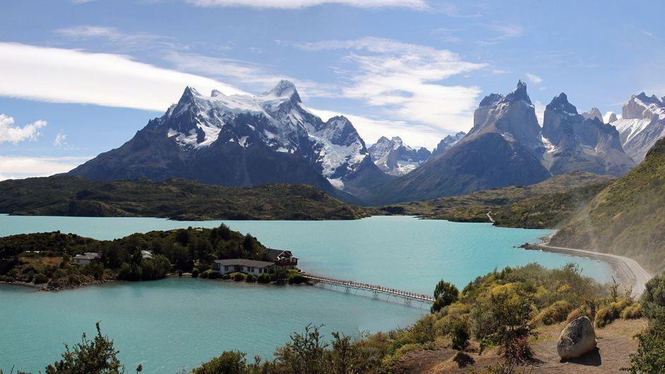 Die Gletscher im Nationalpark Torres del Paine in Patagonien in Chile