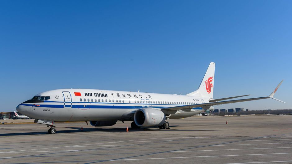 In China bleiben Boeing-Flugzeuge des Typs 737 Max am Boden – wie hier bei Air China.