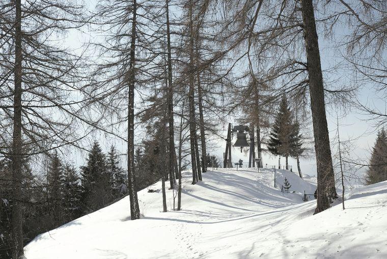 Höhepunkt in der Olympiaregion Seefeld: In Mösern steht die Friedensglocke des Alpenraumes.