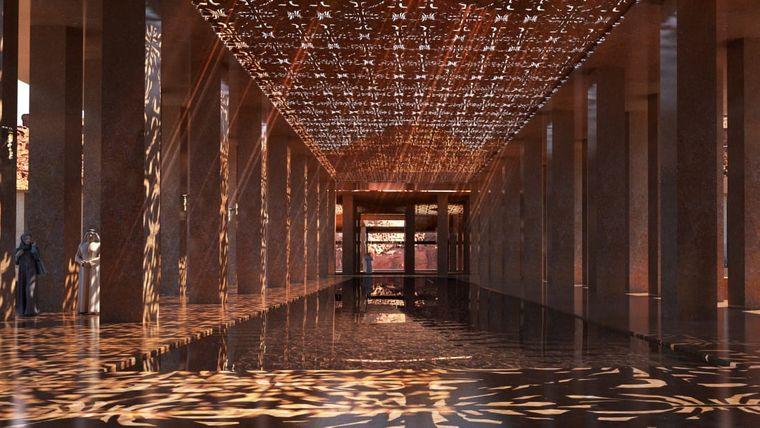 Im Sharaan Resort spielt der französische Architekt Jean Nouvel mit Licht und Schatten.