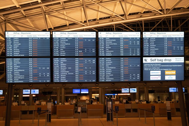 Etwa zwei Drittel aller Flüge wurde gestrichen.