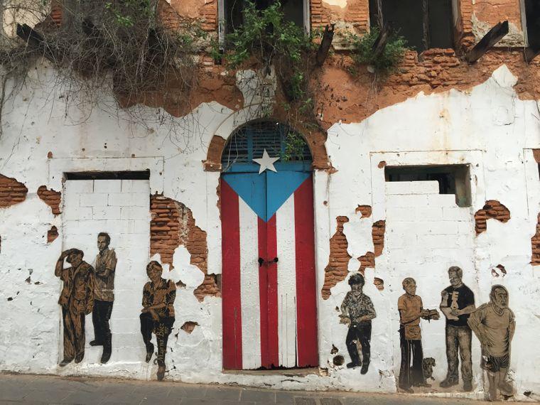 Streetart in San Juan beim Puerto Rican Art Museum