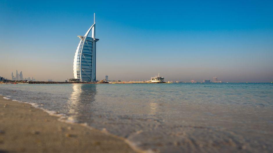 Strand von Dubai.