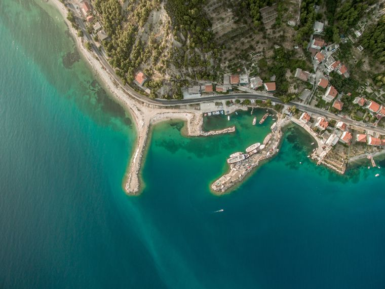 Vogelperspektive auf Split, Kroatien