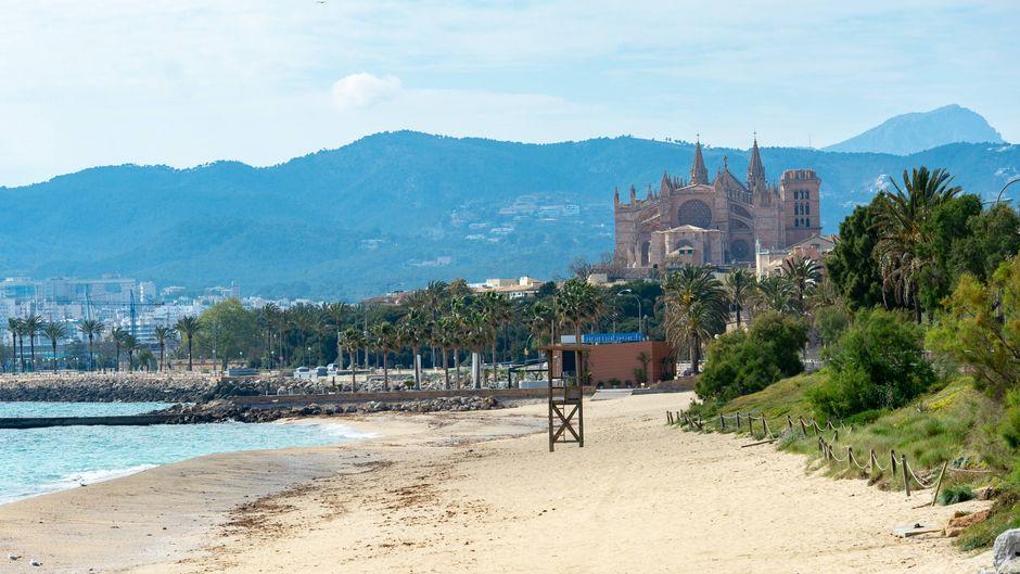 Gespenstisch: Diese Leere an Mallorcas Stränden sind wir nicht gewohnt.