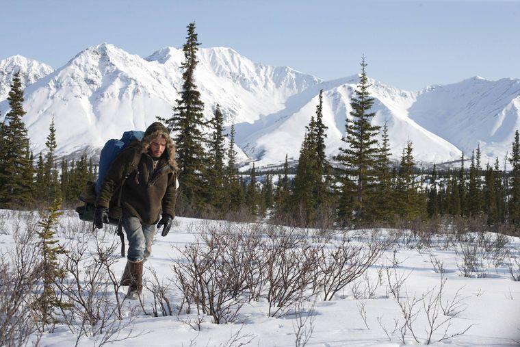 Allein in Alaska.