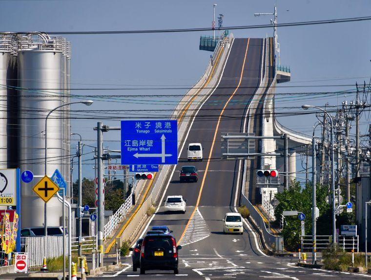 Die Eshima Ohashi Bridge – eine echte Herausforderung für Autofahrer.