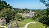 Blick auf eine Tempelanlage der Maya im Dschungel Mexikos.